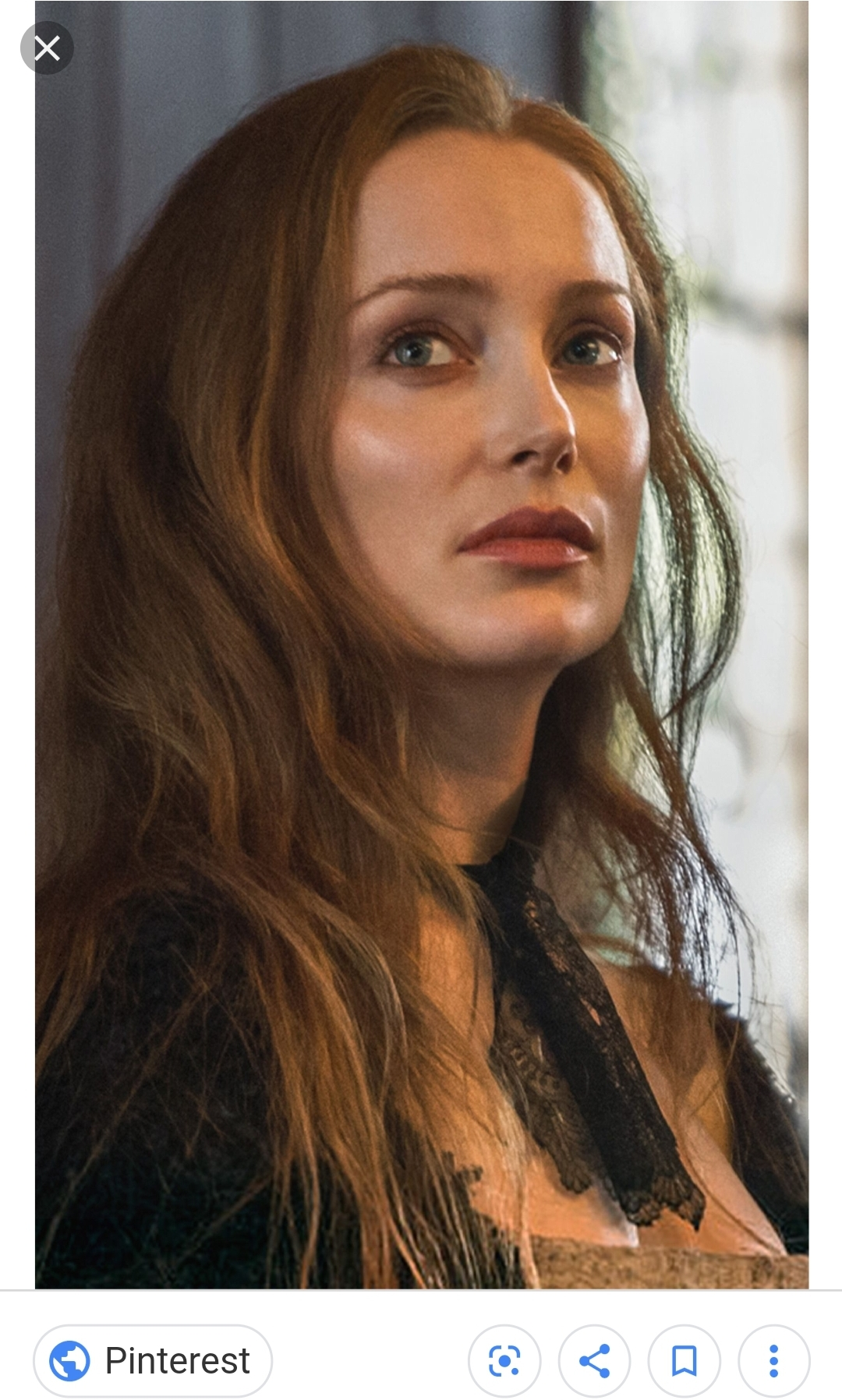 Portrayed by Lotte Verbeek, this photo is a screencap from the Starz show Outlander, courtesy of Pinterest