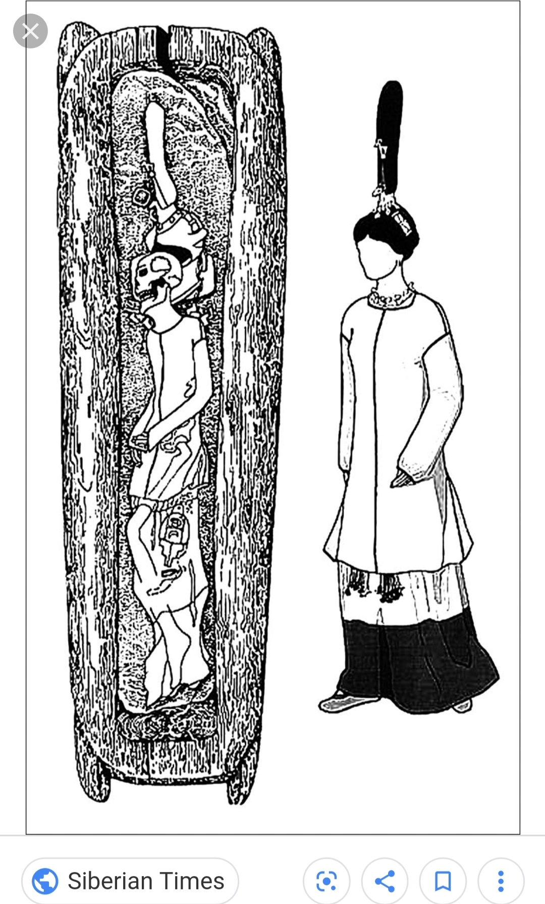 This sketch shows the Ice Maiden in her tomb as well as the clothing left for her