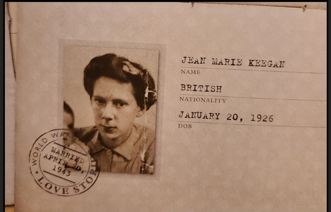 Photo taken by the author, provided in World War II Love Stories by Gill Paul