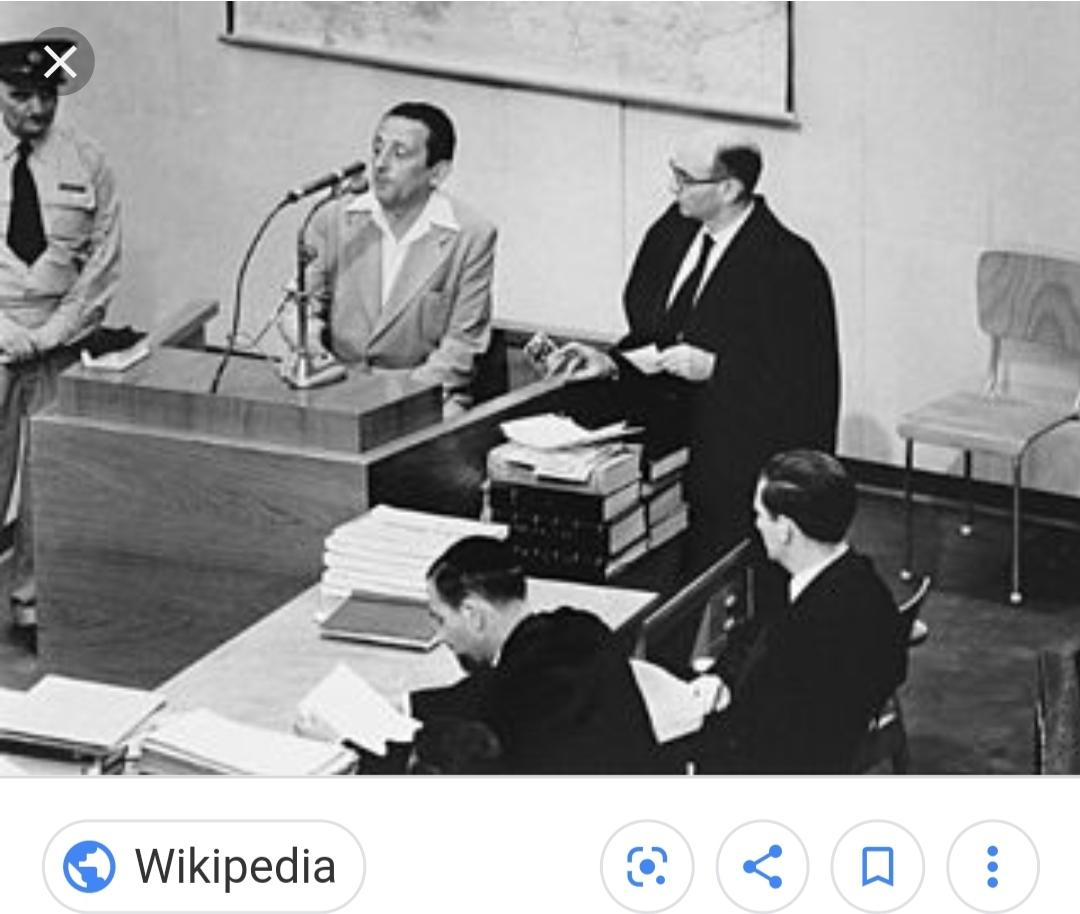 Henryk testifying at the Eichmann trial in 1961