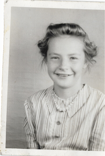 This photo depicts my grandmother when she was a young girl.