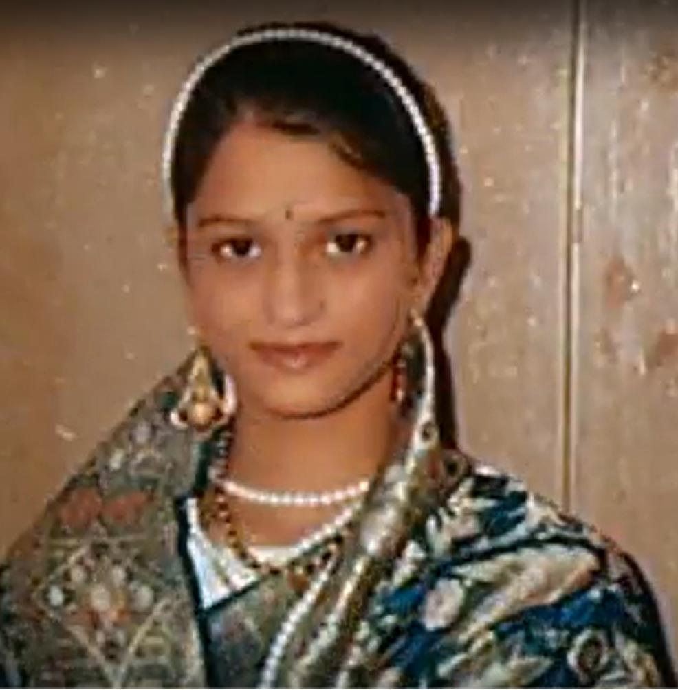Kajal as a younger girl