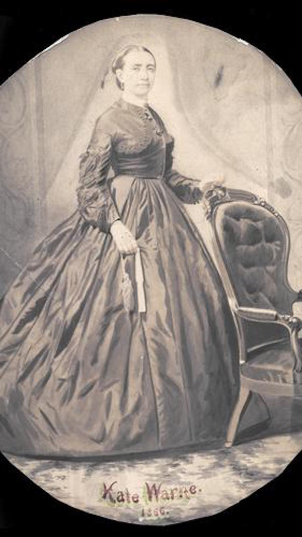 This watercolor of Kate is from 1866. There are no known photographs of Kate.