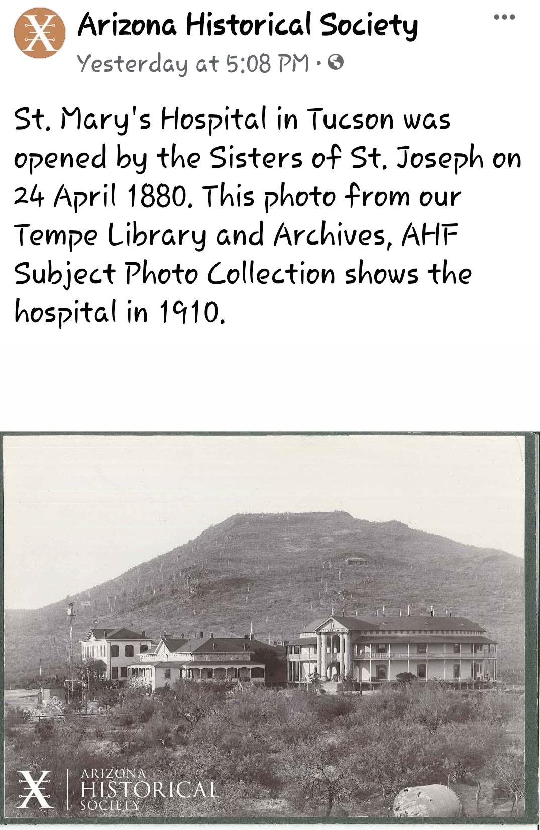 Courtesy of Arizona Historical Society on Facebook