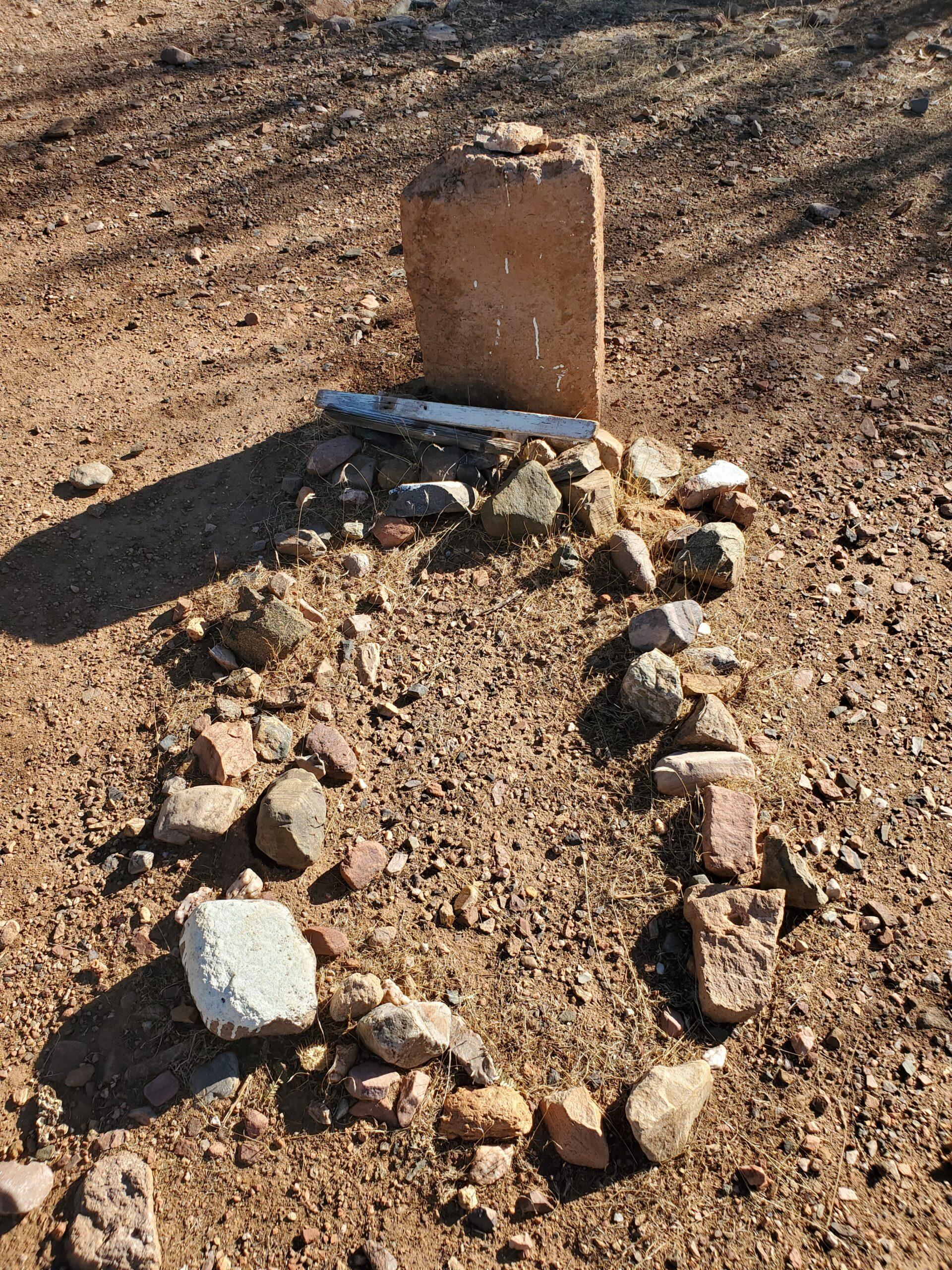 A marked grave at Historic Pinal