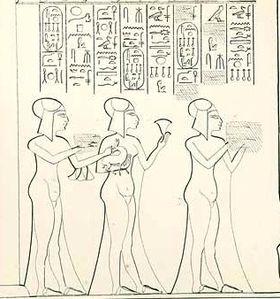 Setepenre with Neferneferure and Neferneferuaten Tasherit