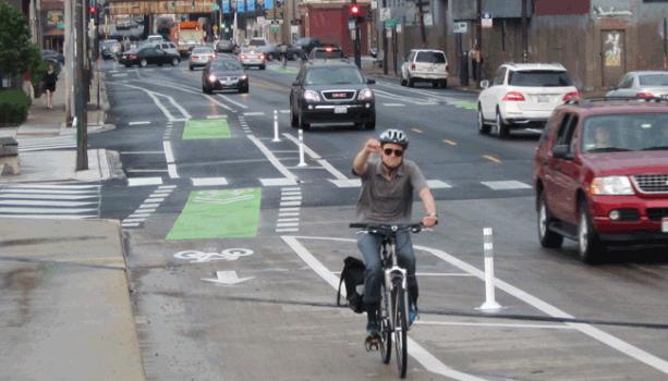 Milwaukee Barrier Protected Bike Lane