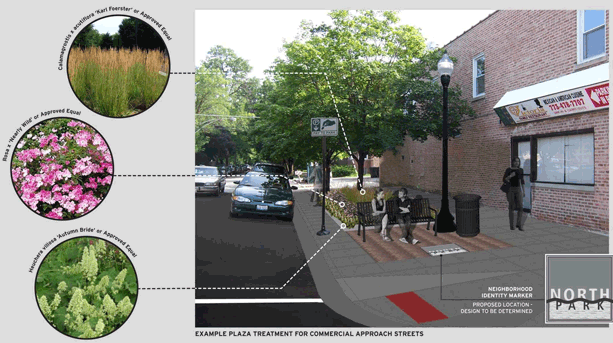 Rendering of Foster Avenue Streetscape