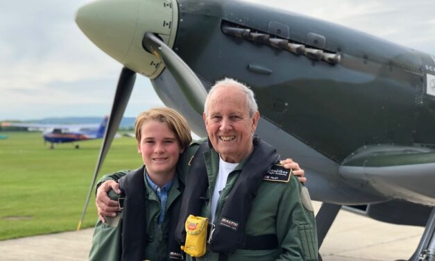 Grandson Helps Fulfill Grandfather's Dream of Flying a Spitfire