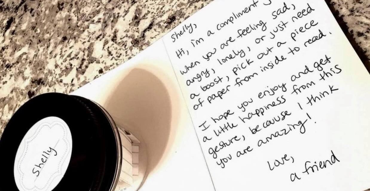 Woman Brightens Others' Day With Compliment Jars