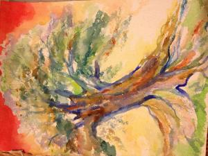Tree - Watercolor on heavy paper