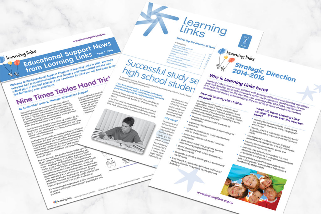 Learning Links brochures