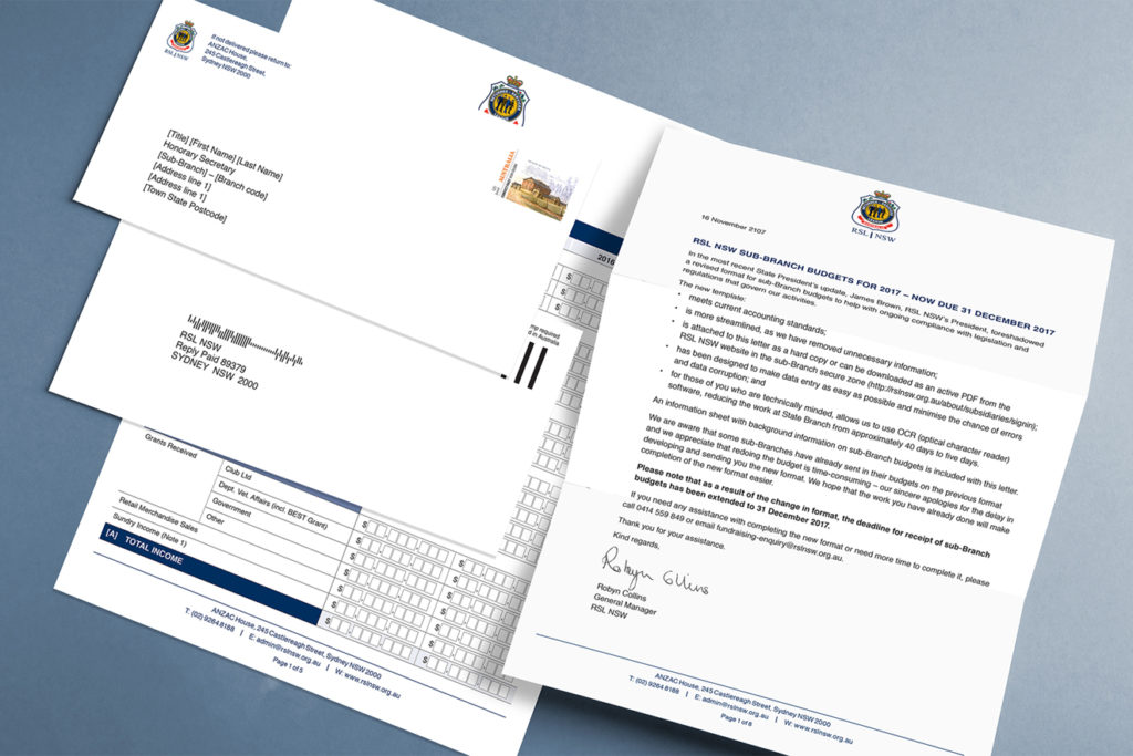 RSL NSW mailings