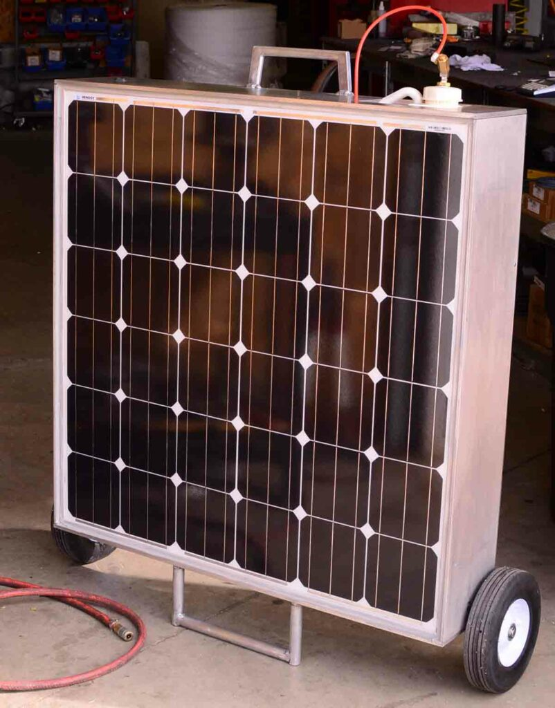 Solar powered machine