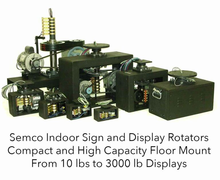 Semco Indoor display turntables