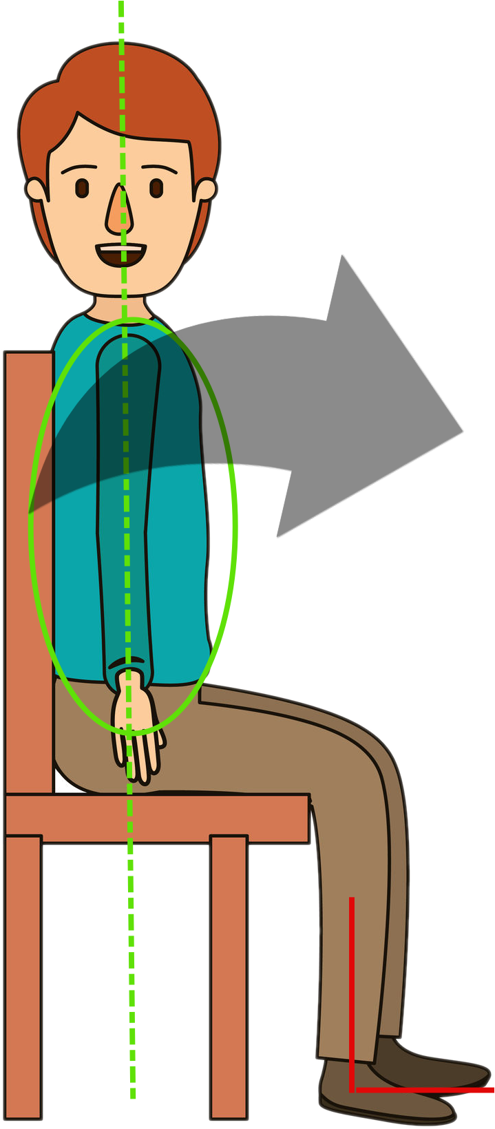 vector image of male sitting