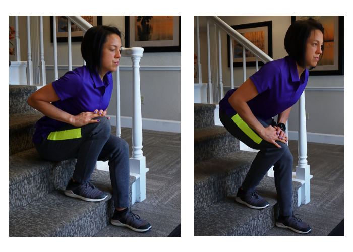 sit to stand exercise with single leg bias