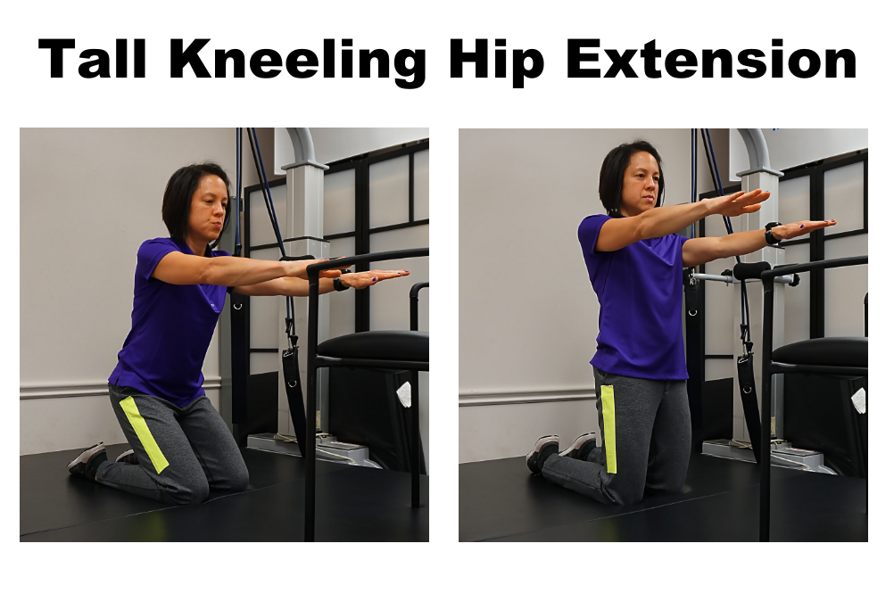 tall kneeling with hip extension
