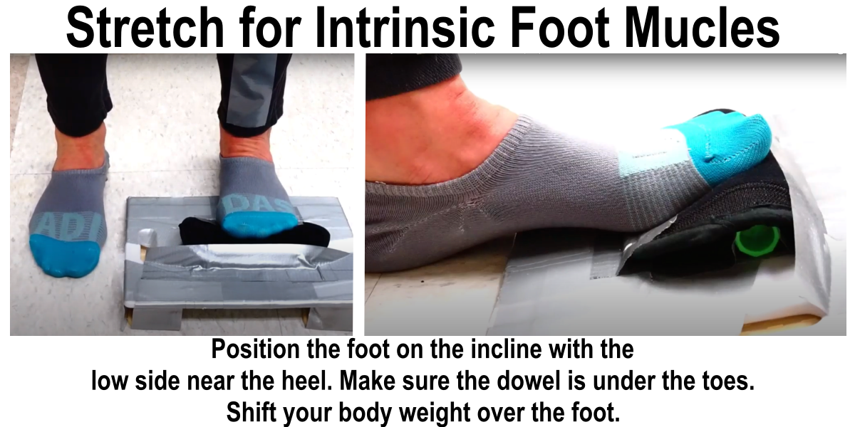 picture of an exercise to stretch the toe flexor muscles