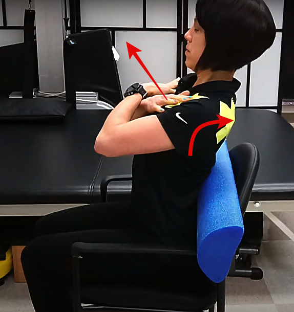 thoracic spine exercise ending position