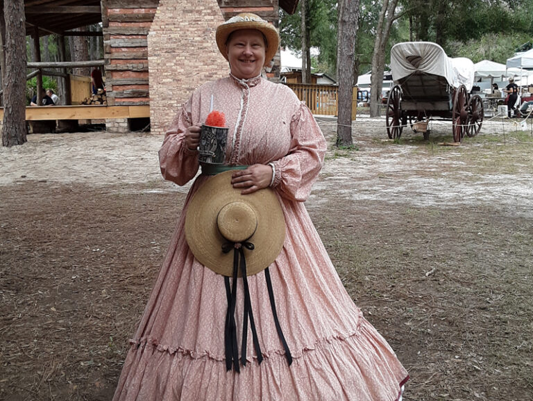 Women in costum at Cracker Village Silver Springs State Park