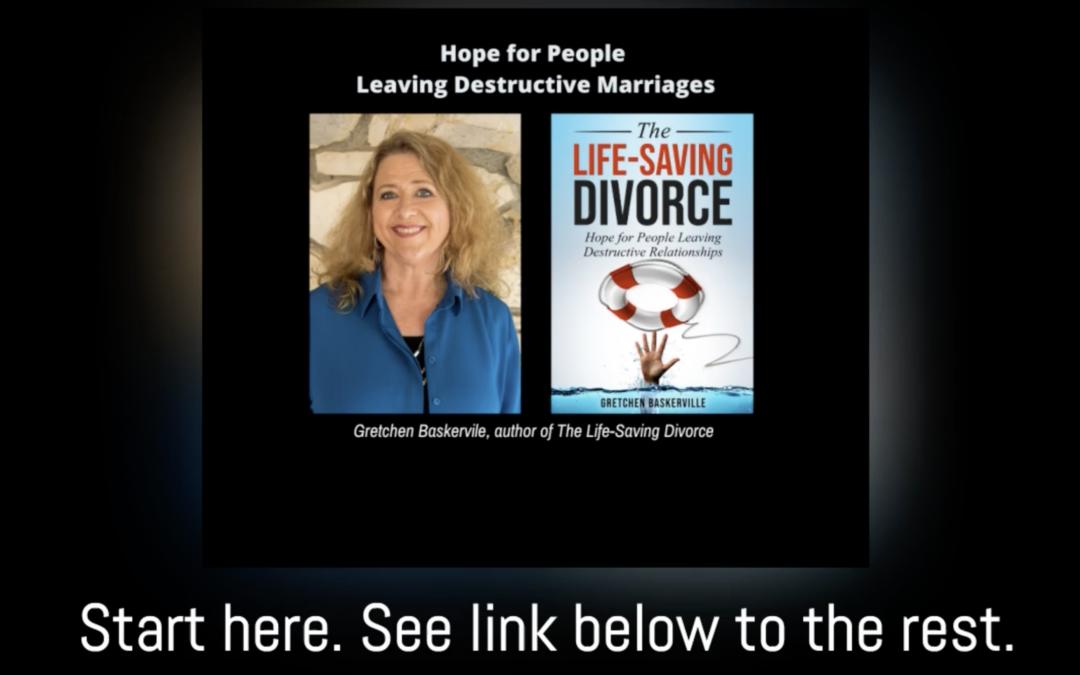 Life-Saving Divorce: Introduction (audio and transcript)