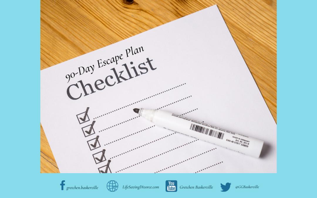 Escape Plan: 50-Item Checklist