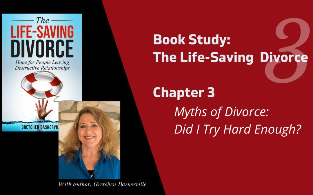 Life-Saving Divorce Book Study Videos Ch. 1-10 (2020)