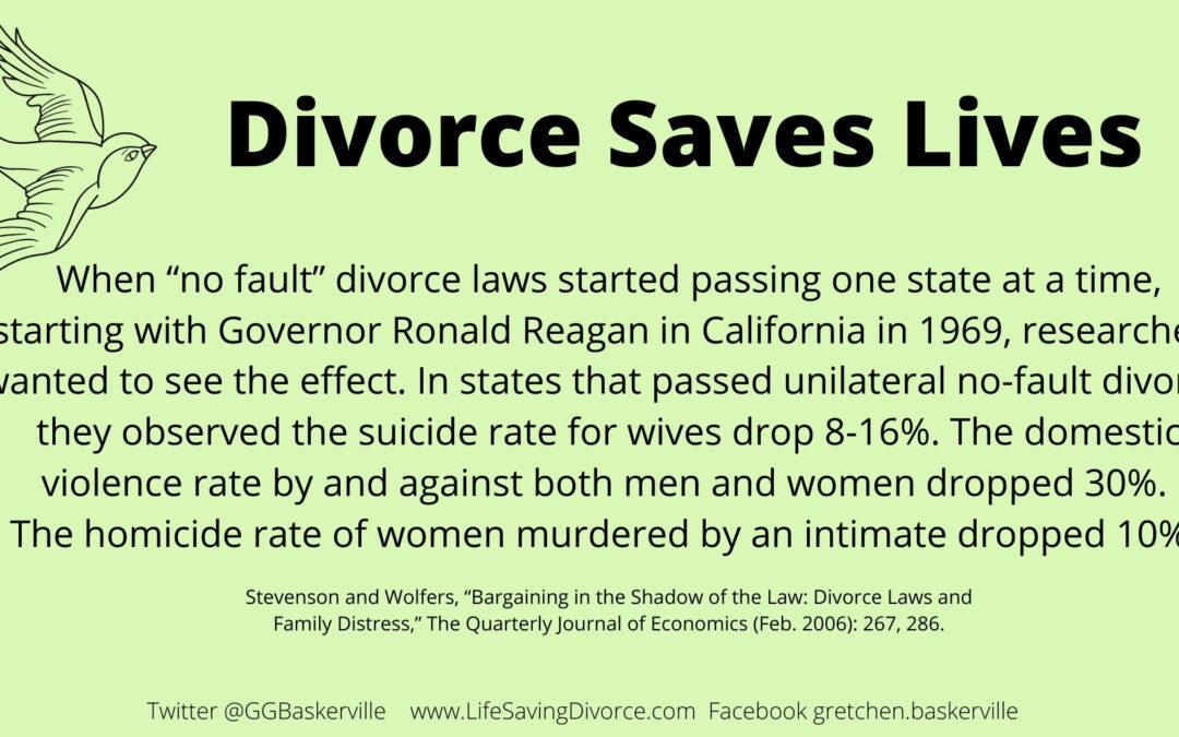 Divorce Saves Lives