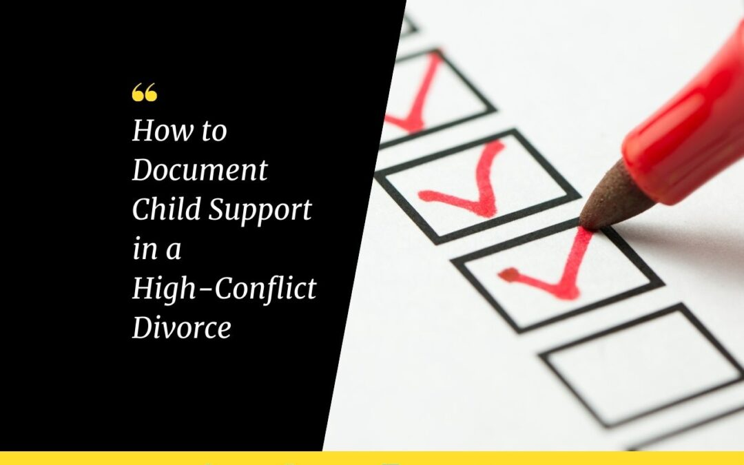 12 Ways to Document Financial Issues and Child Support in a High-Conflict Divorce