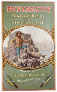 Framed poster of Winchester Big Games Rifles and Ammunition (185 x 300)