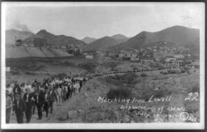 Group of people marching from Lowell (300 x 191)
