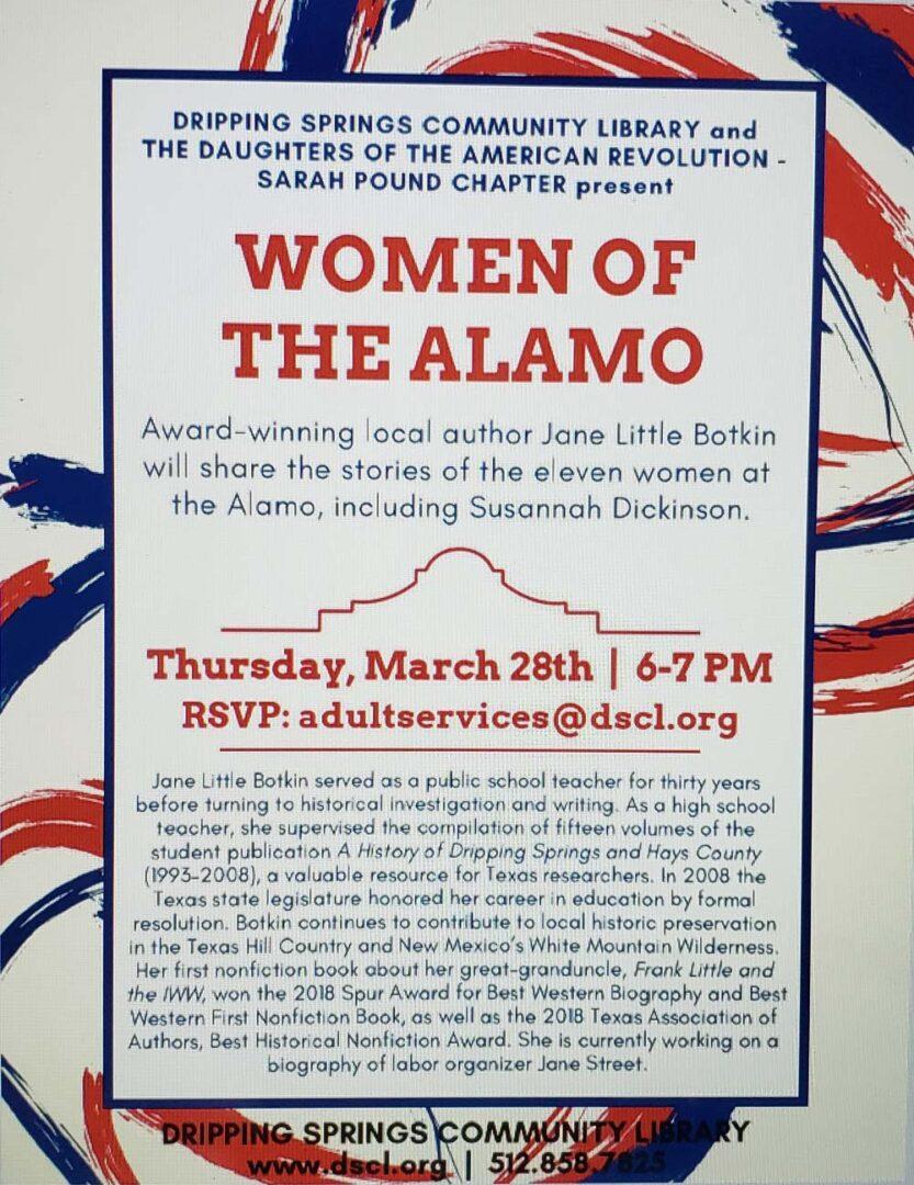 1 Women of the Alamo