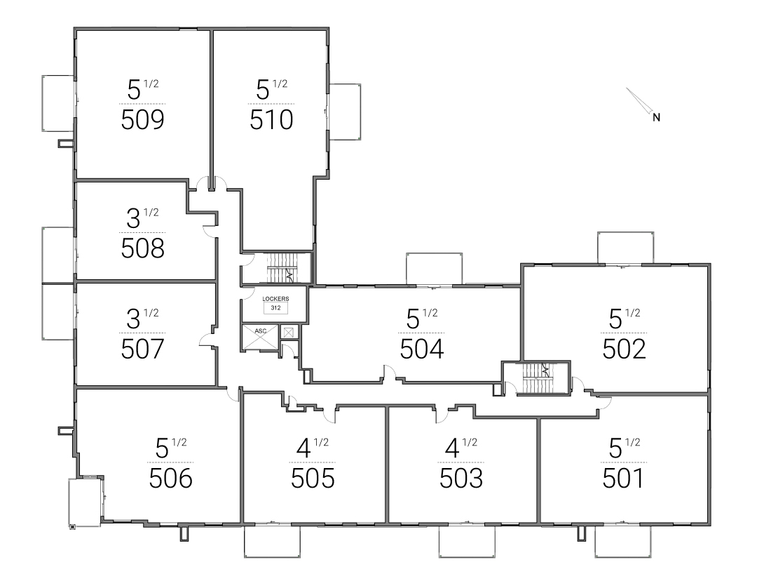 plan 5e étage