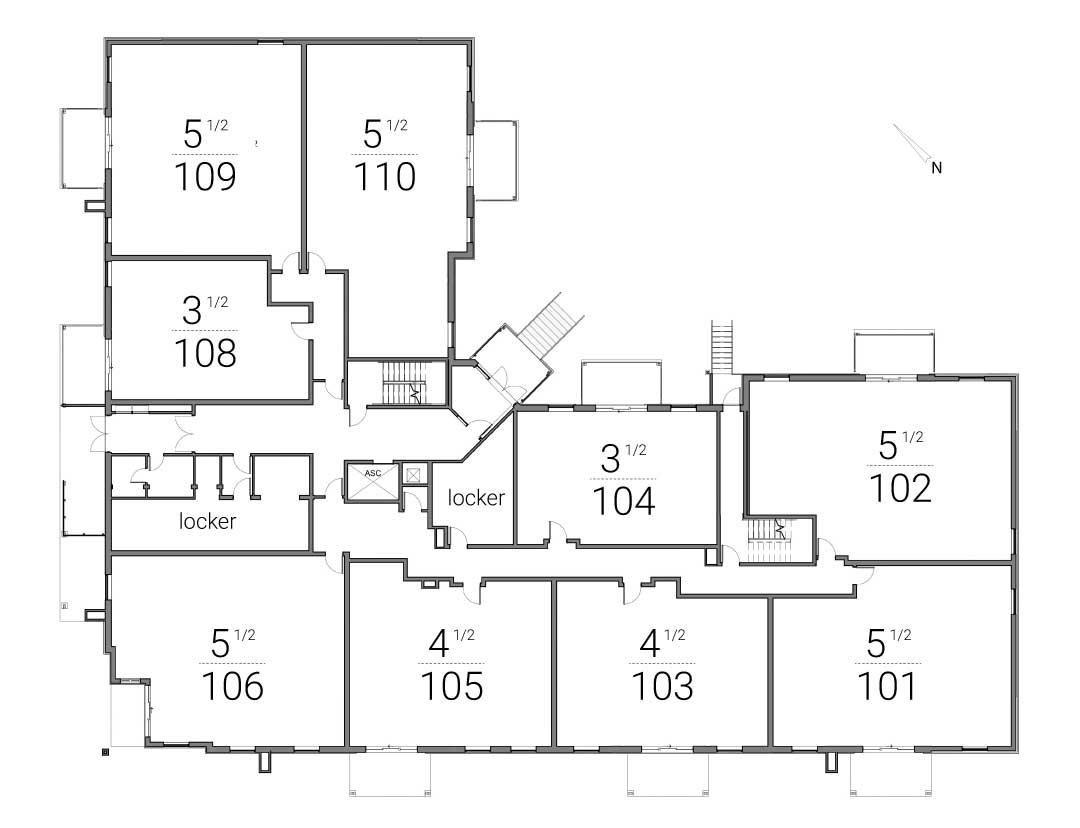Le Brio: plan du rez-de-chaussée
