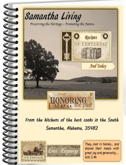 Click here to order Samantha Living 1st Edition Cookbook