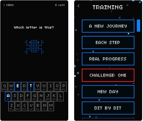 morse toad - morse code app for iphone