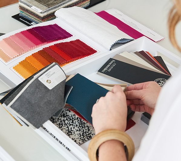 looking through swatches