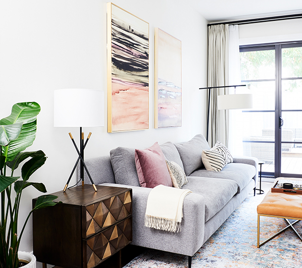 Living room decorated