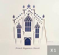 3D Church Notecard (single)