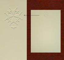 Embossed Cards, Ecru