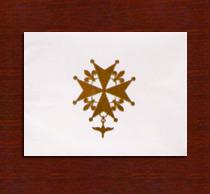 Gold Cross Notecards