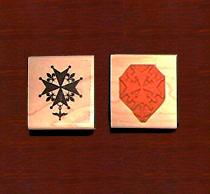 Huguenot Cross Closed Rubber Stamp