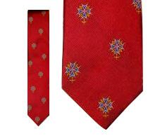 Huguenot Cross Tie - Red