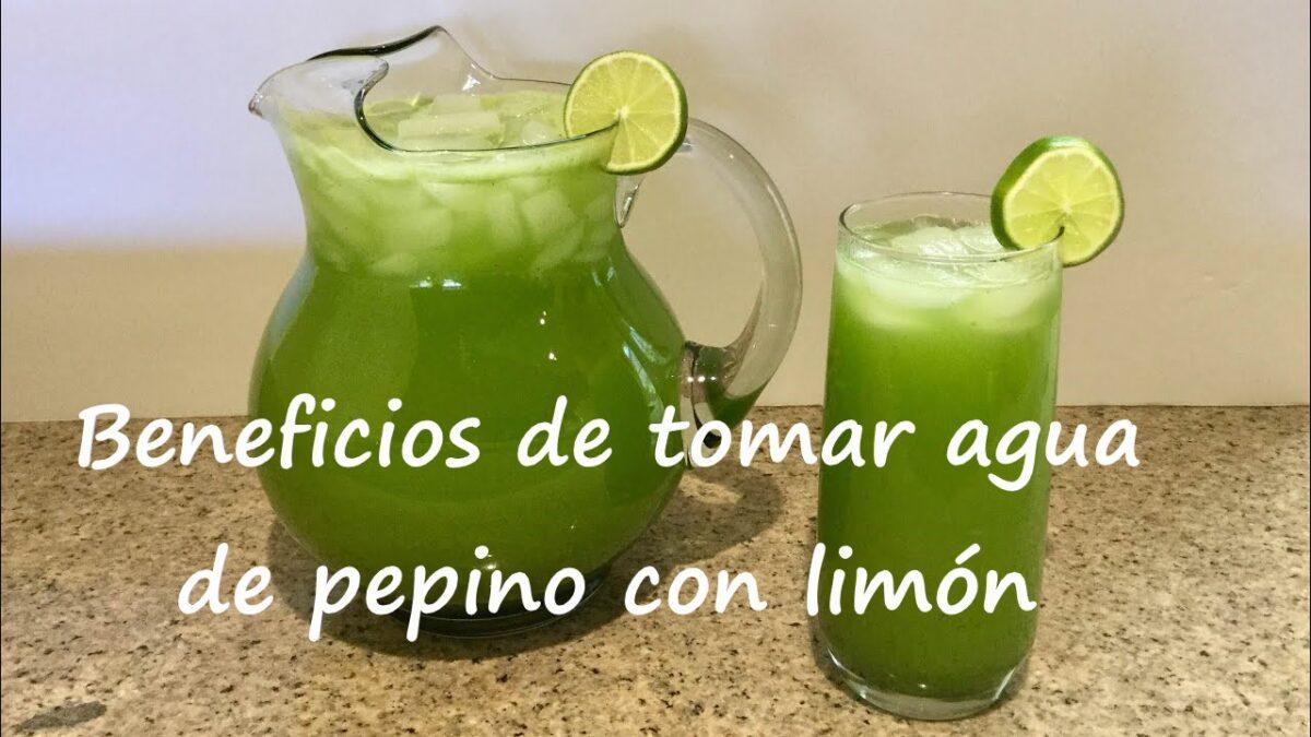 Beneficios de tomar agua de pepino con limón