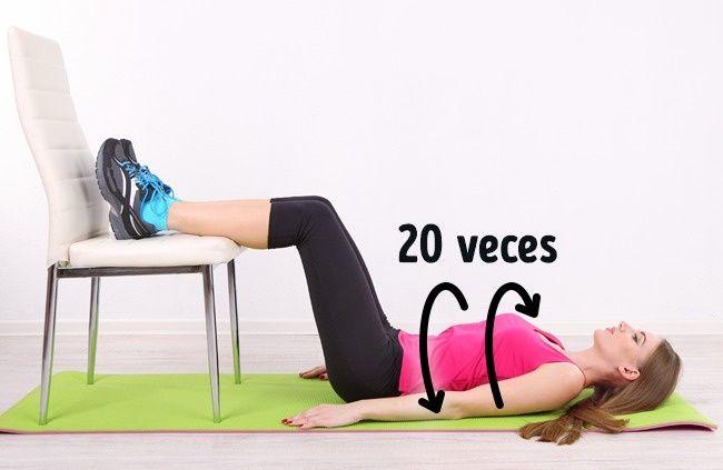 5 ejercicios para reducir la grasa de la panza con una silla