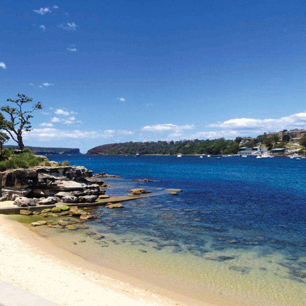 Cruise Sydney Harbour private beach