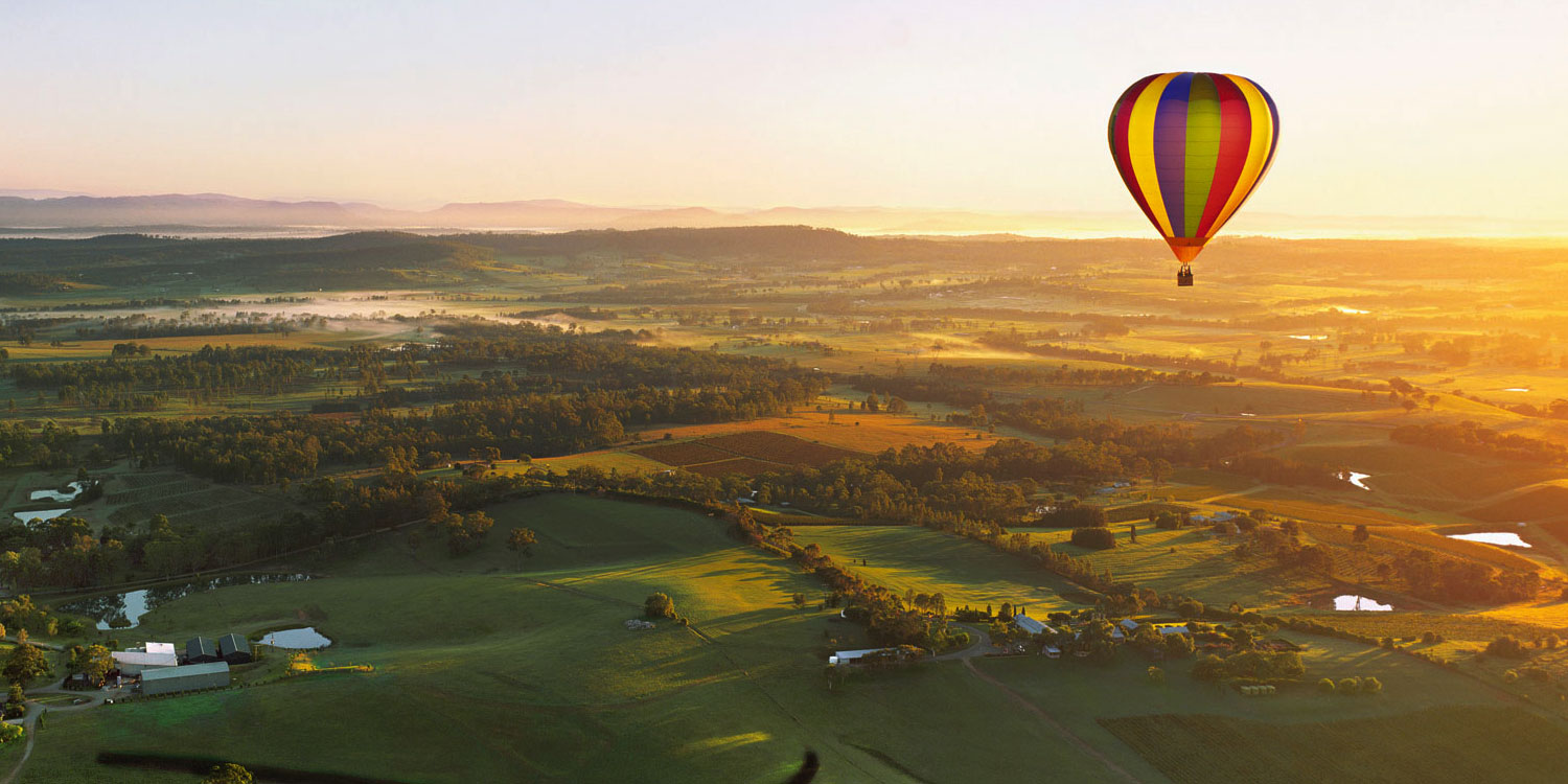 Hunter Valley private tour hot air balloon