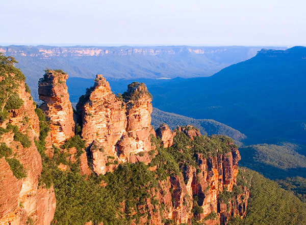 The three sisters in the Blue Mountains on a private tour