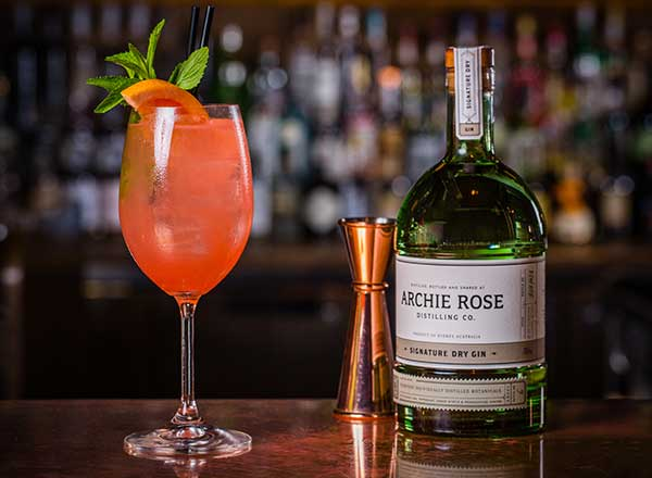 An image of a signature cocktail from Archie Rose Distillery as seen on your behind the scenes beer, wine and gin private tour